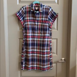 Size small checkered Jcrew shirt dress